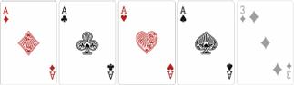 Каре (Four of a Kind) - четыре одинаковых карты