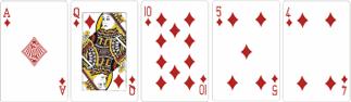 Флэш (Flush) - пять карт одной масти